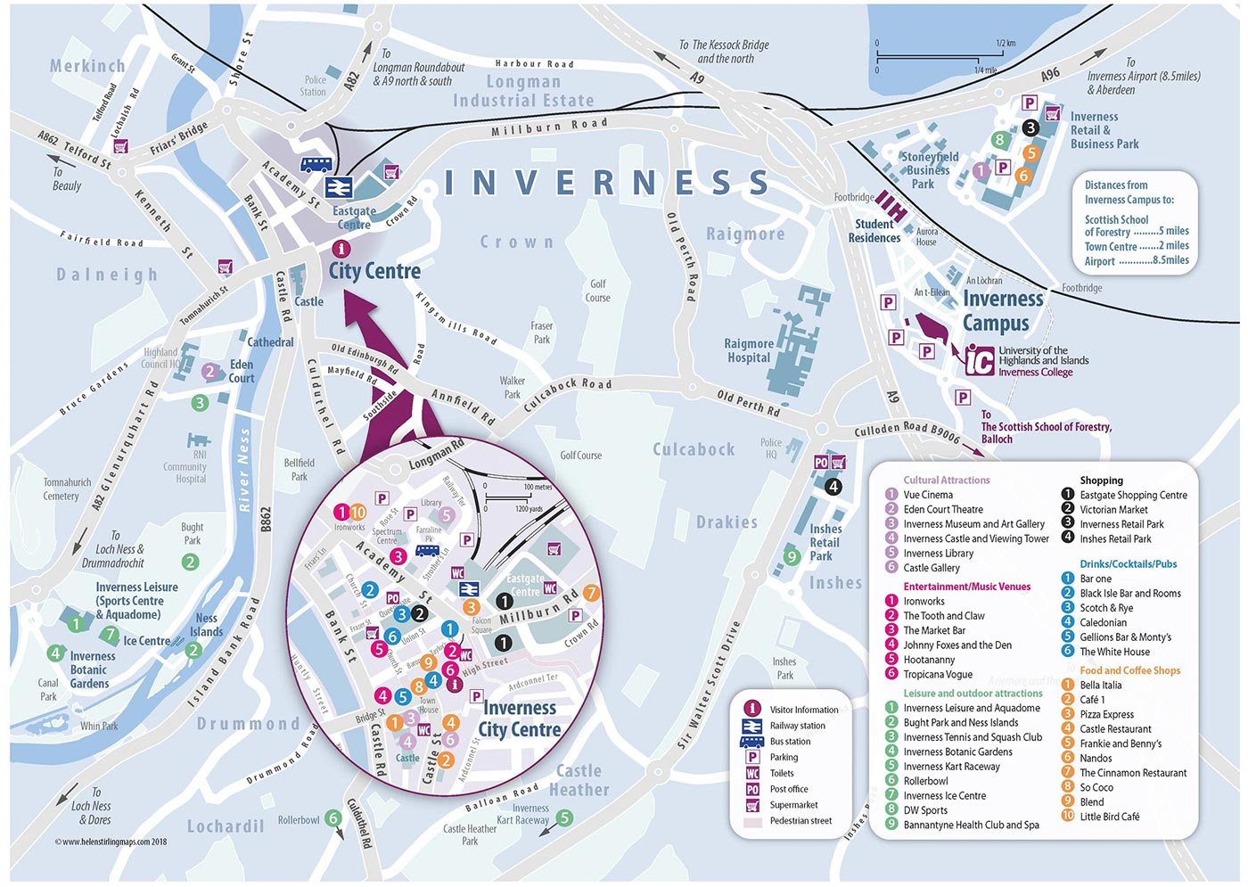 Inverness College UHI map