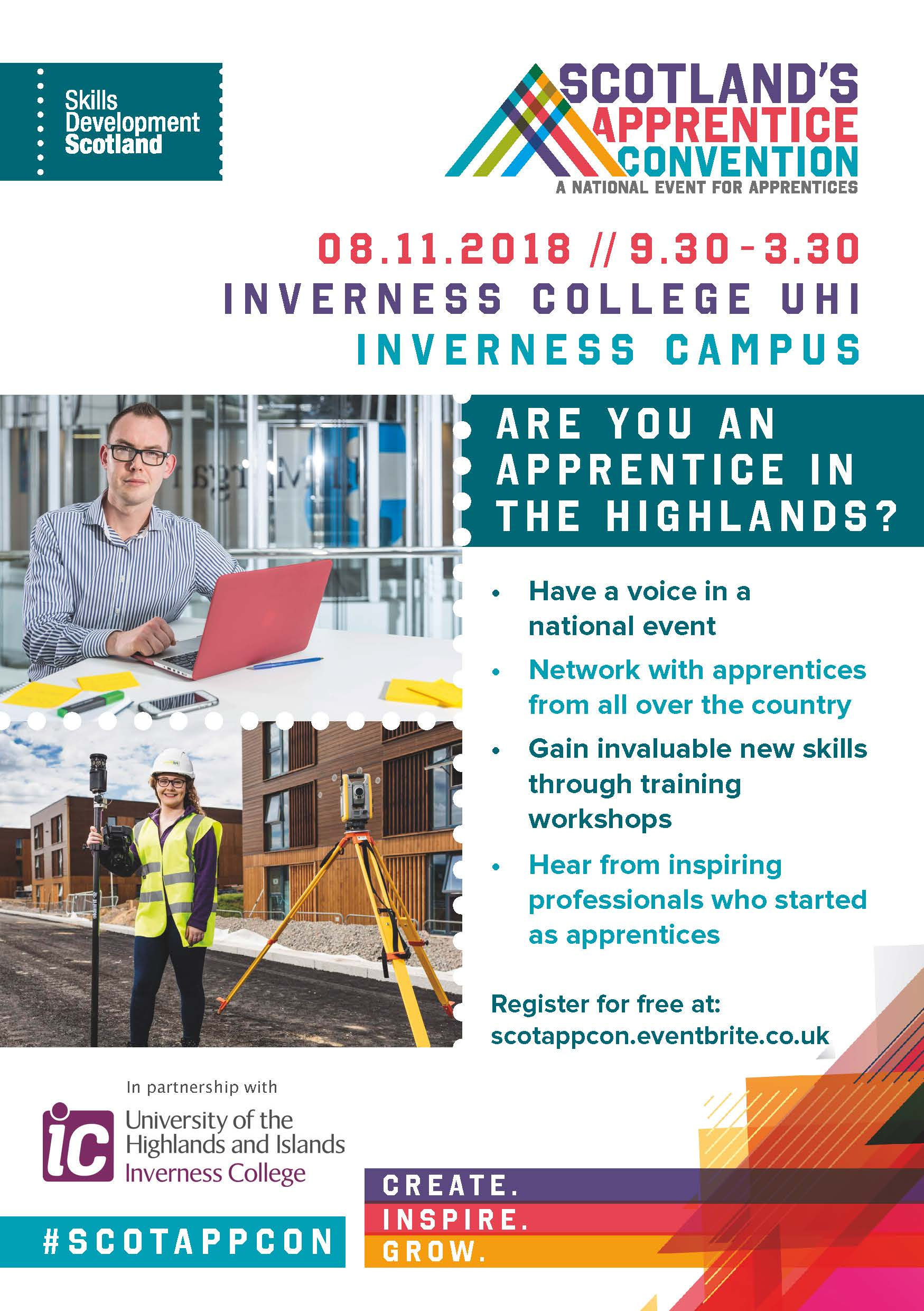 Apprentices from all over Scotland will connect at this unique event. Will you be one of them?