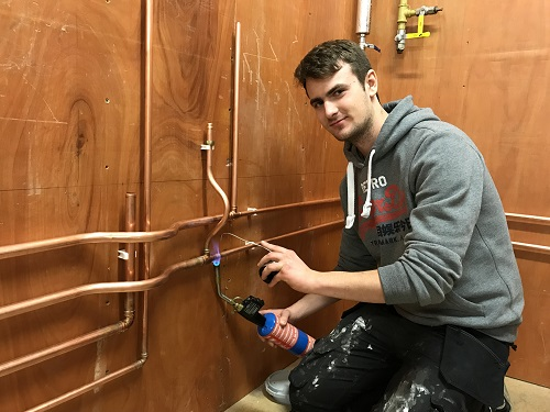 Inverness Colllege UHI plumbing apprentice in final of UK skills competition