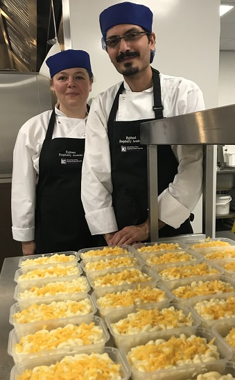 Inverness College UHI professional cookery students support Food for Families project