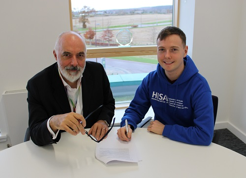 Inverness College UHI and HISA Inverness sign Student Partnership Agreement