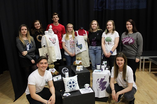 Students design merchandise for the University of the Highlands and Islands