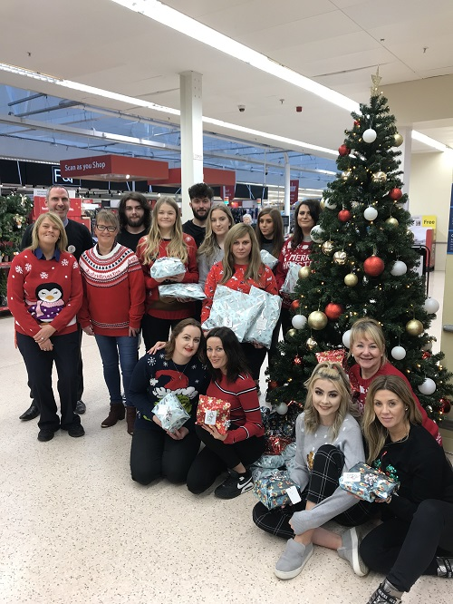 Inverness College UHI hairdressing students support Tesco's Christmas Mission