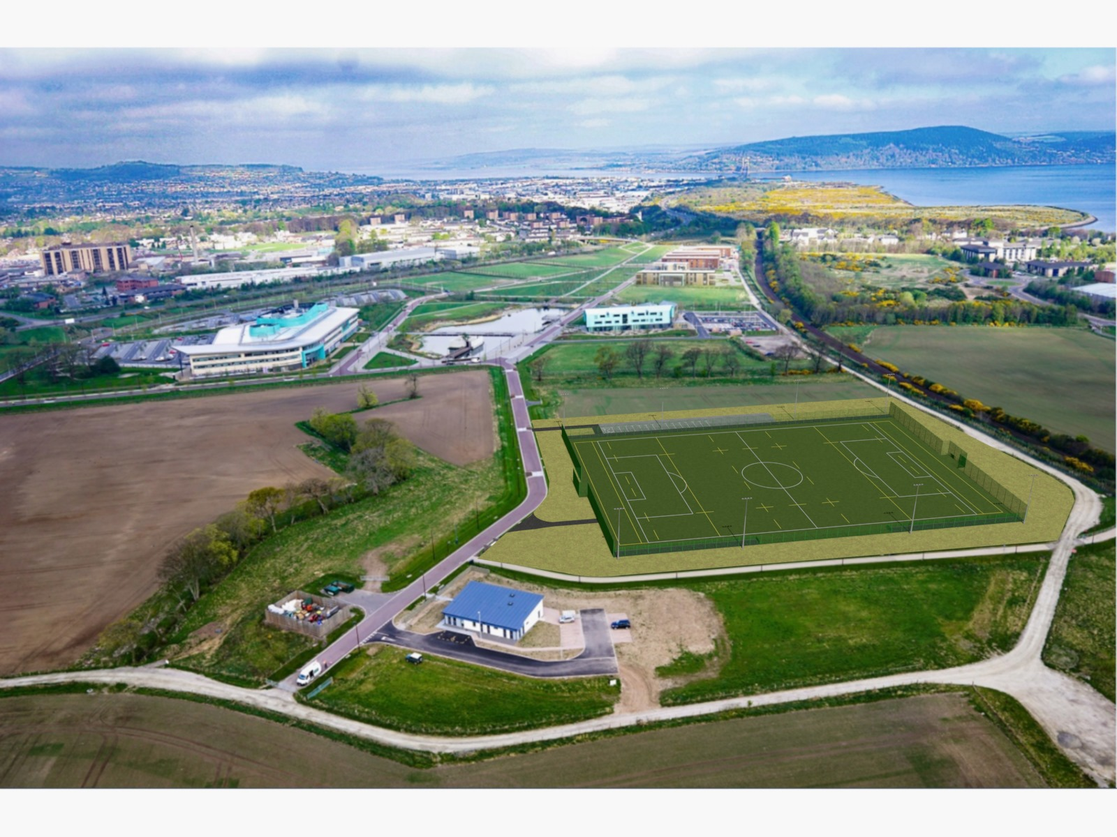 Funding secured for an all-weather sports pitch at Inverness Campus