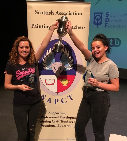 Competition success for Inverness College UHI painting and decorating apprentices