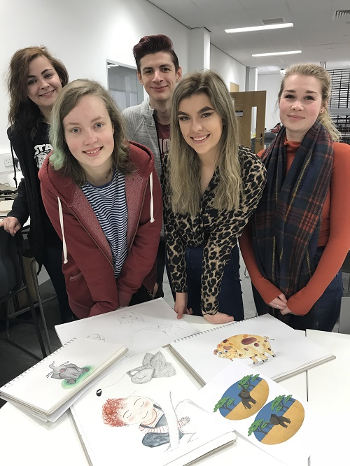 Inverness College UHI students create illustrations for Australian book publisher