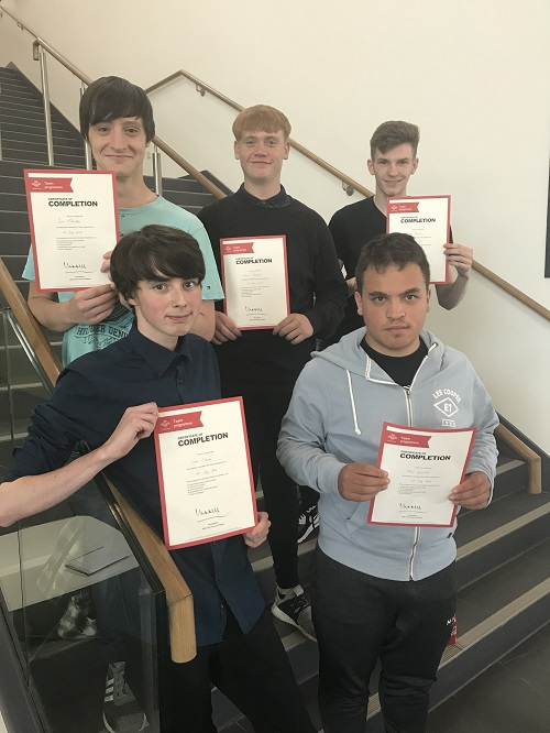 Young people complete Prince's Trust TEAM Programme at Inverness College UHI