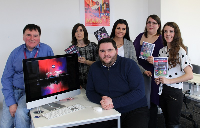 Inverness College UHI students design digital programme for Scottish Premiership football club