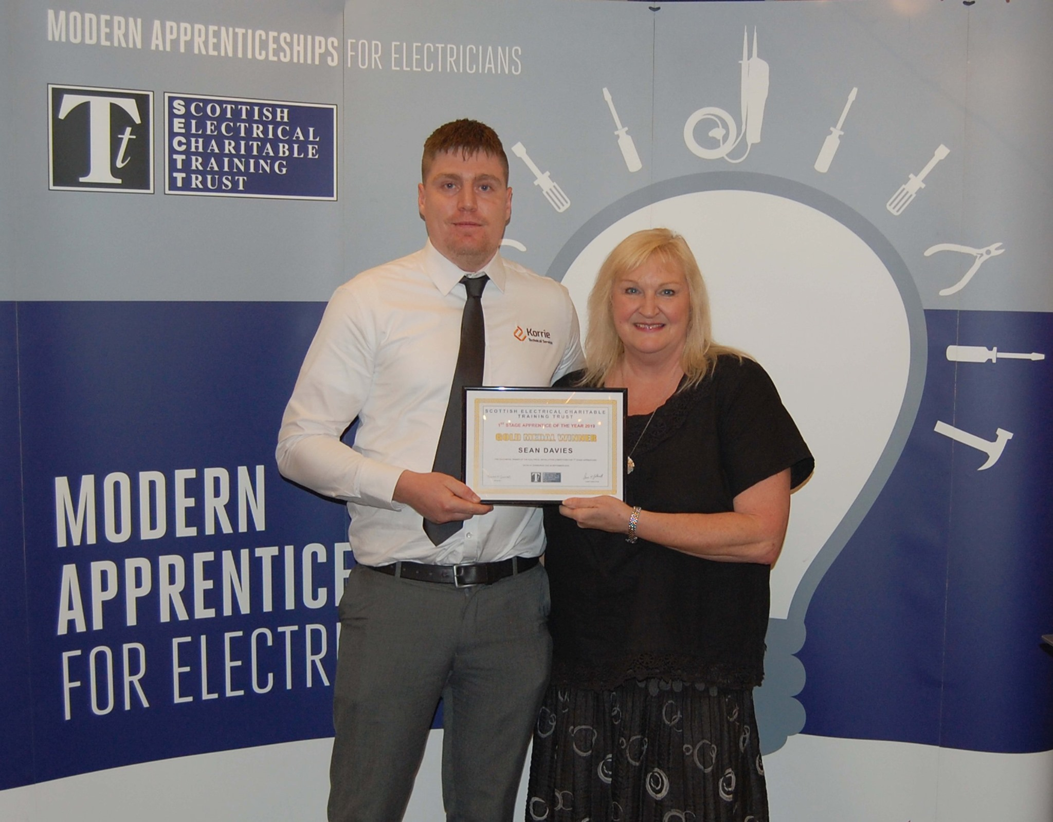 Inverness College UHI student named Stage 1 SECTT Electrical Apprentice of the Year for Scotland