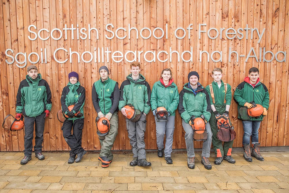 Scottish School of Forestry launches Modern Apprenticeship with Forest Enterprise Scotland