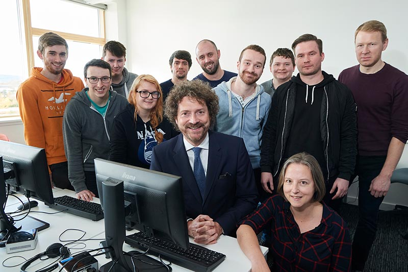 Entrepreneur and video game supremo inspires Inverness College UHI students